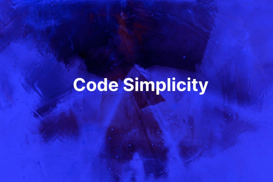 Simplicity in coding a software